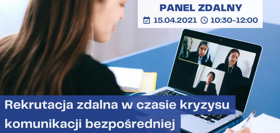 Kobieta uczestnicząca w spotkaniu online - obrazek wyróżniający